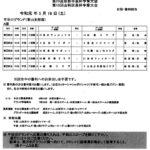 山科大会18日の予定