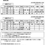 球友会の10月20日・21日の予定です。